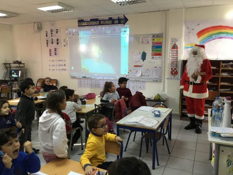 Le passage du Père Noël en classe