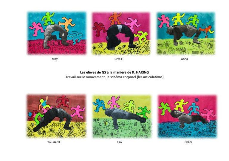 Oeuvres d'art à la manière de Keith Haring