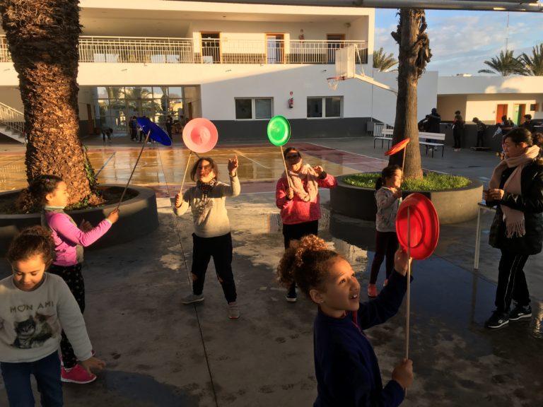 Début des ateliers de cirque à l'élémentaire