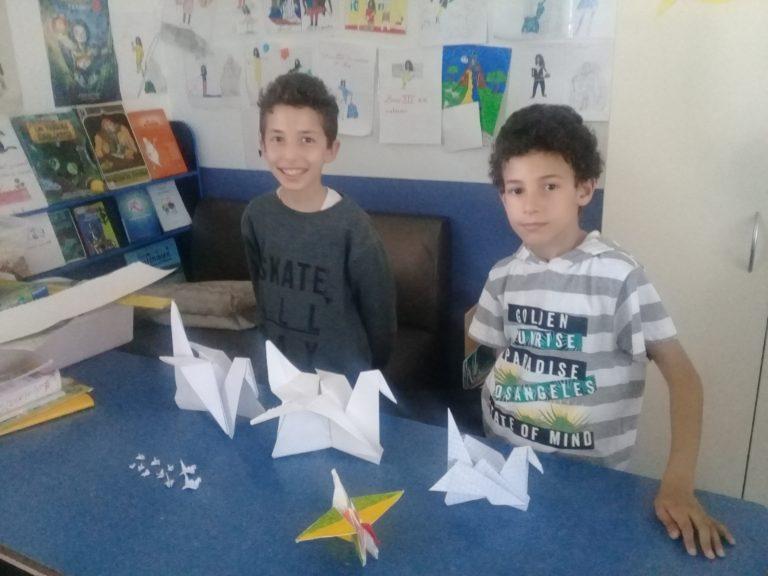 Les CM1 à la découverte de l'origami