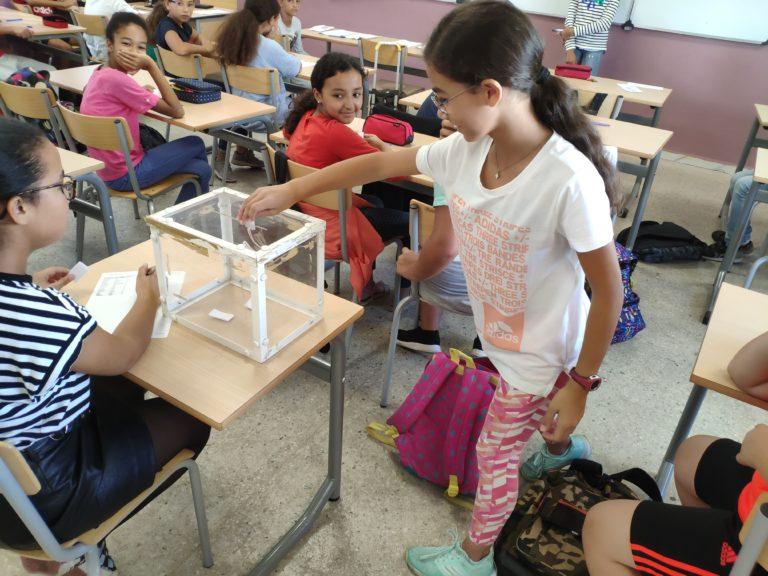 Élection et formation des délégués de classe au primaire et secondaire